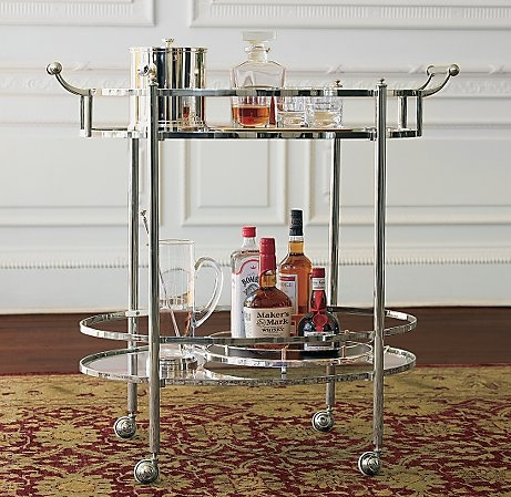 silver bar cart - simple