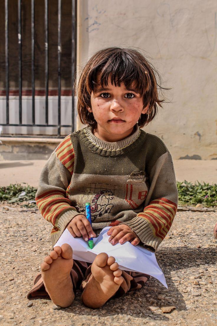 Niño refugiado de Siria.