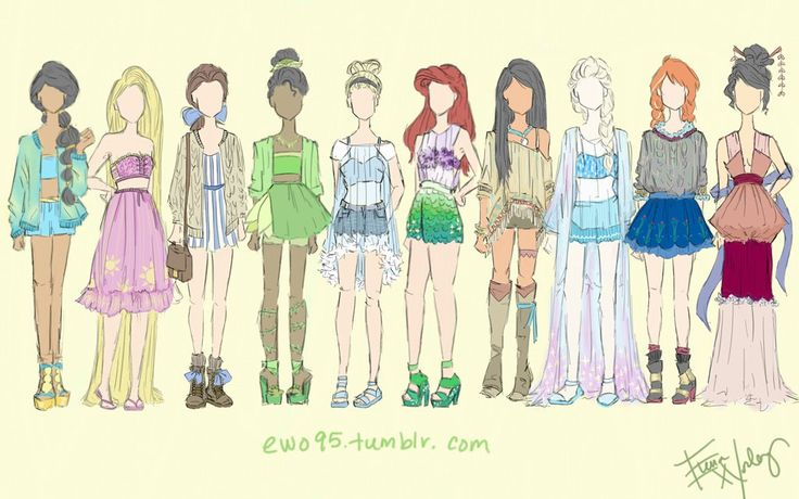 Disney Princess: Summer Fashion by Ellphie.deviantart.com on @DeviantArt