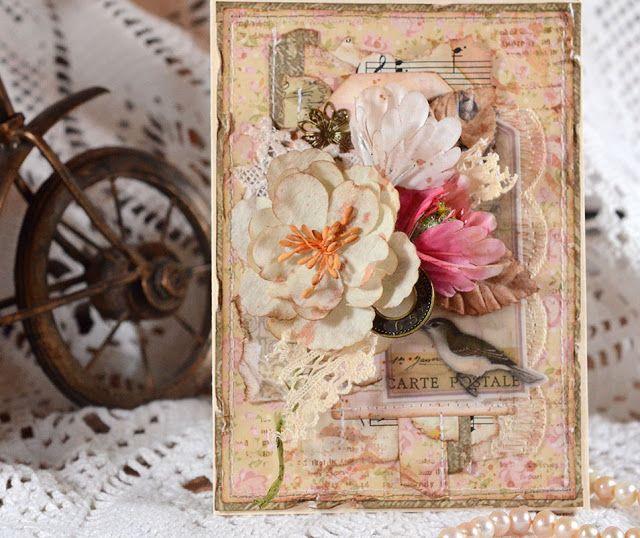 Бумага скрапбукинг открытки