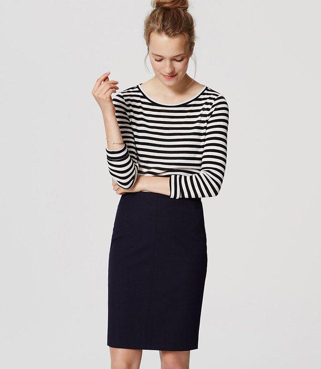 LOFT Petite Custom Stretch Pencil Skirt