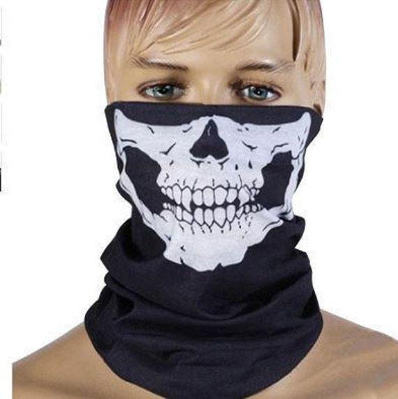 Skeleton mask scarf Scarf Half Face Mask skull mask skull