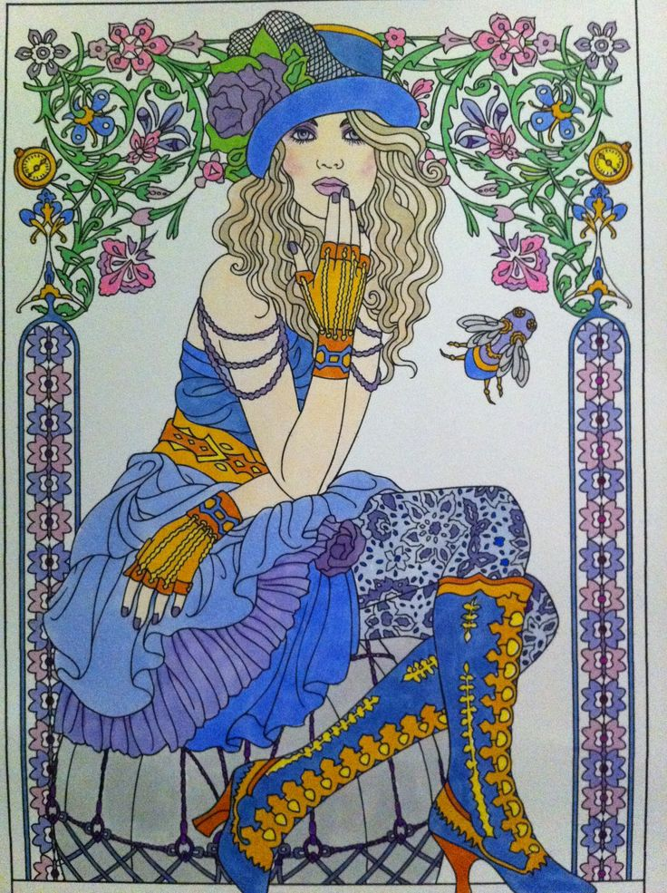 15 best finished colored pages images on Pinterest | Adult coloring ...
