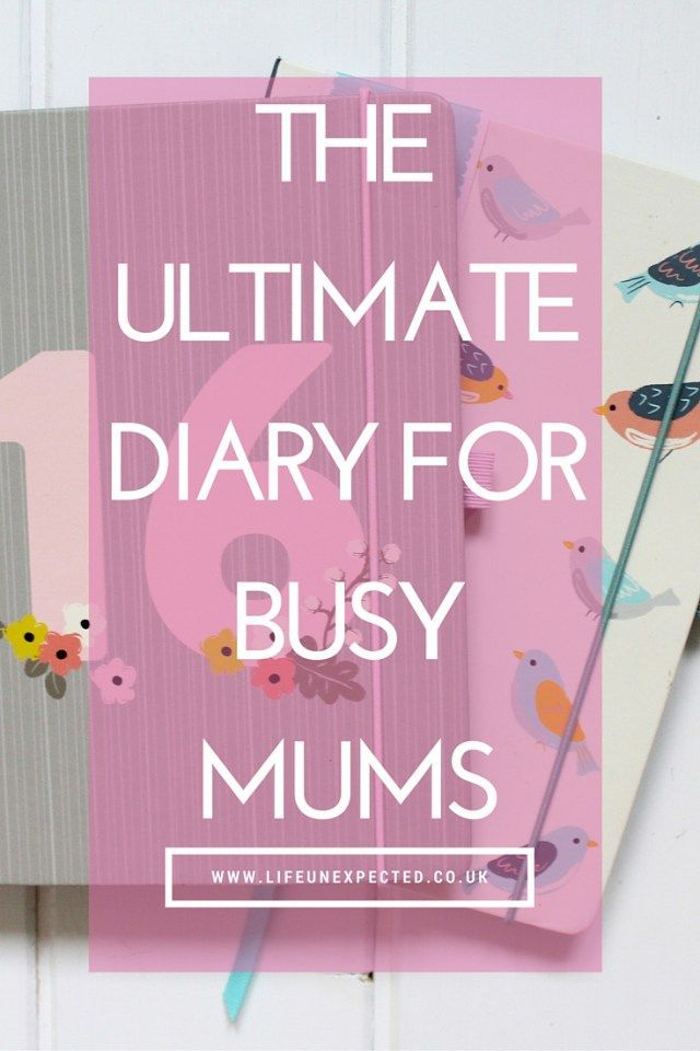 Ultimate Diary For Busy Mums. Are you a mum who always has a huge to do list? Are you always trying to balance a work and home life or a home and school life? This diary is for you!