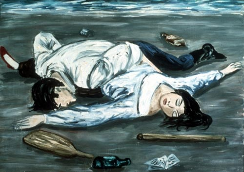 Bosman Beached, 1985, oil/canvas, 60 x 84 inches