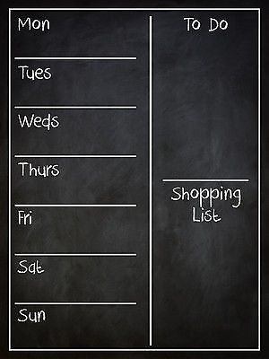 Family Organiser Wall Board Weekly Planner Easywipe in Other Home Decor | eBay
