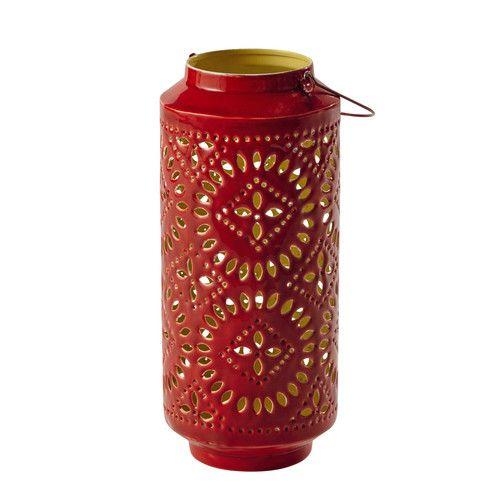 Lanterna rossa in metallo H 41 cm SAMARA