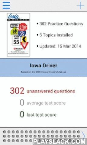 Iowa DMV Test Prep  Android App - playslack.com , The most comprehensive Iowa DMV permit and driver's license practice test app is now available for Android! Previously only available for iPhone, our app features 302 essential questions to help you prepare for the knowledge test.The first two topics, Licensing and Impaired Driving, are free. To access all practice questions an in-app purchase is available.Based on the Iowa Driver Handbook. Features: - 20 free practice questions!- Additional…