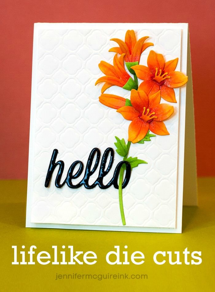 Video showing how to turn plain white die cuts into colorful, lifelike pieces!