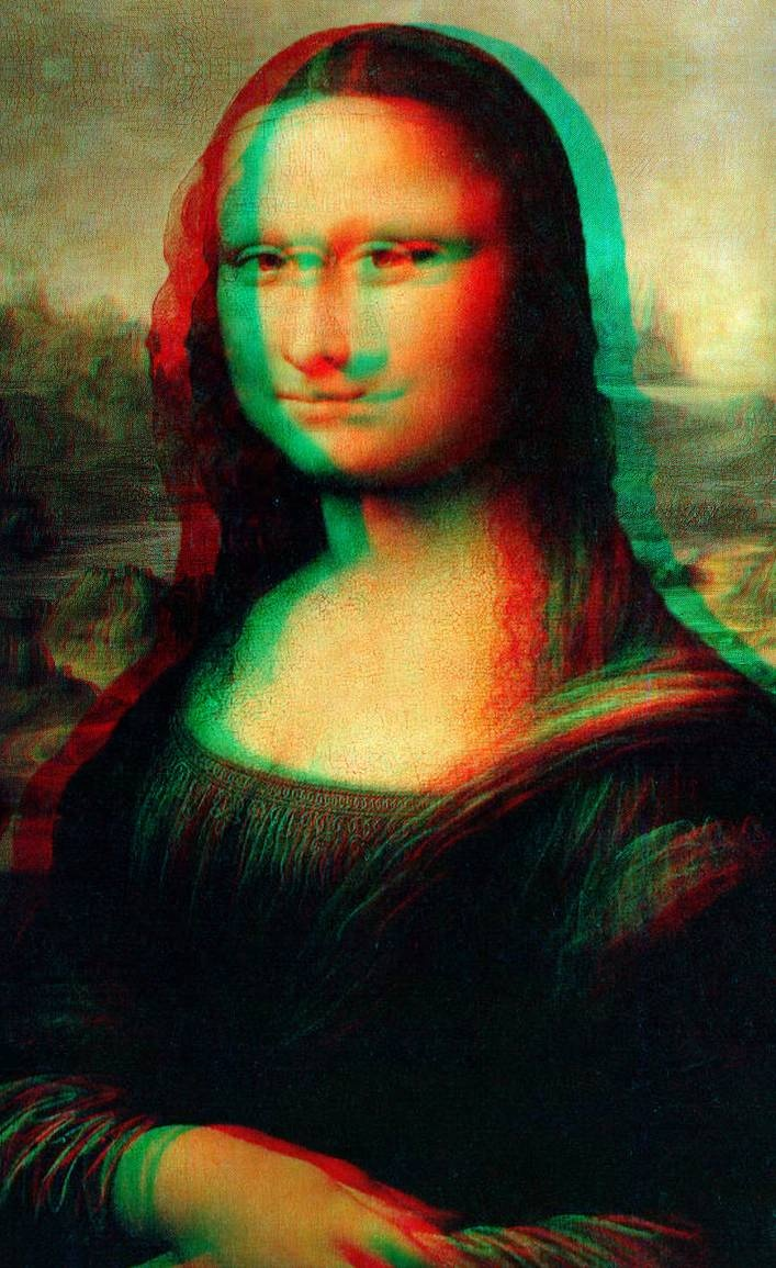 Monalisa 3d to be seen with anaglyph glasses by Francesco ...