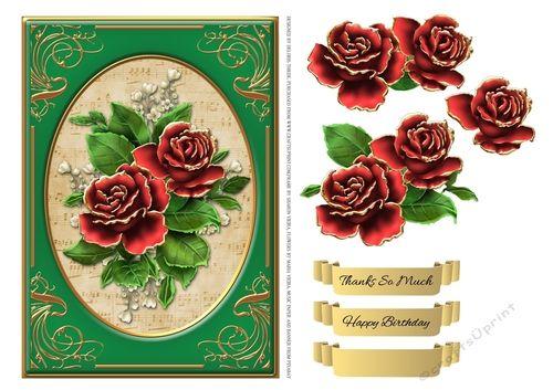Red Roses Birthday Or Thank You Step By Step | Köszönöm