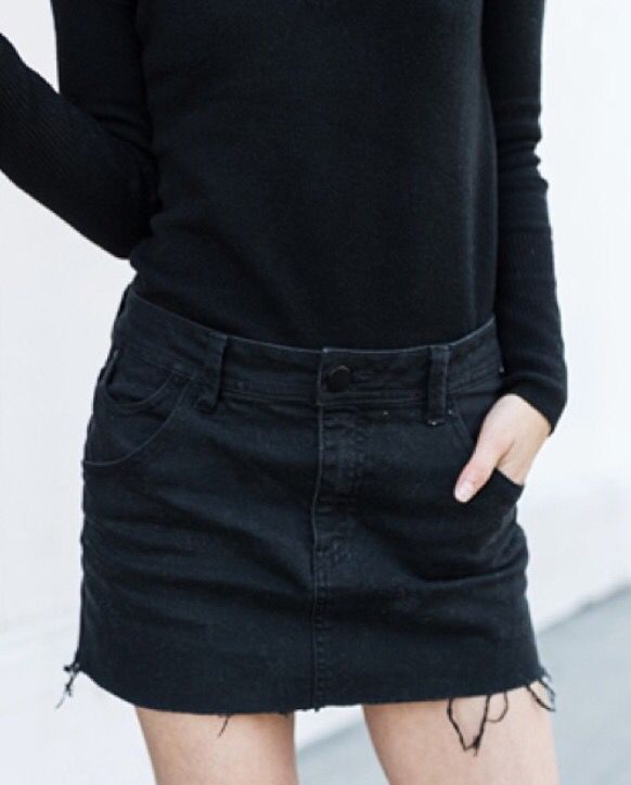 Best 20  Black Denim Skirt ideas on Pinterest | Denim skirts ...
