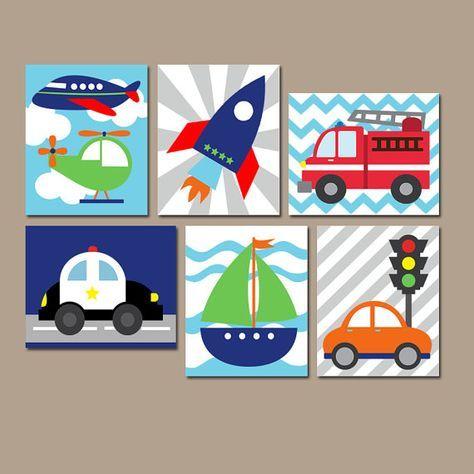 TRANSPORTE pared arte lienzo o impresiones chico por TRMdesign