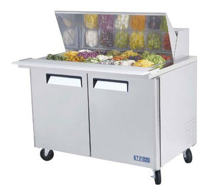 #refrigerators #Turbo Air #Refrigerated Prep Tables combine an efficient CFC free R-134A refrigeration system with high-density polyurethane insulation enclosed i...