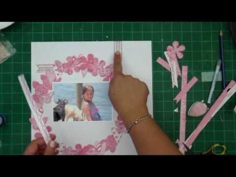 Simply Adorable PINK Layout #BasicEssentials #BasicallyTextured #CarienaBasson #Scrapbooking