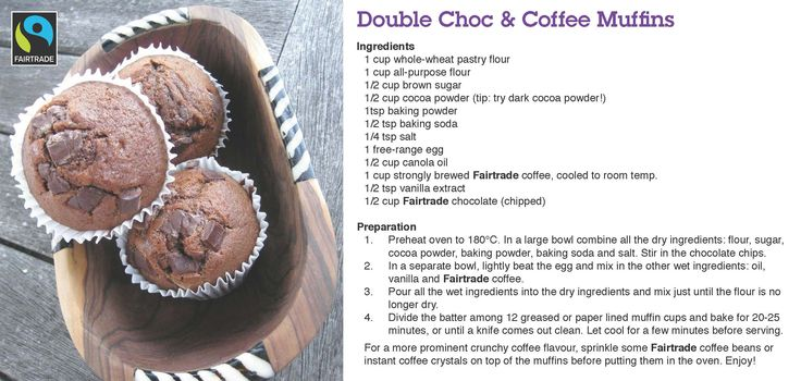 #Fairtrade #coffee recipes: Double Choc & Coffee Muffins