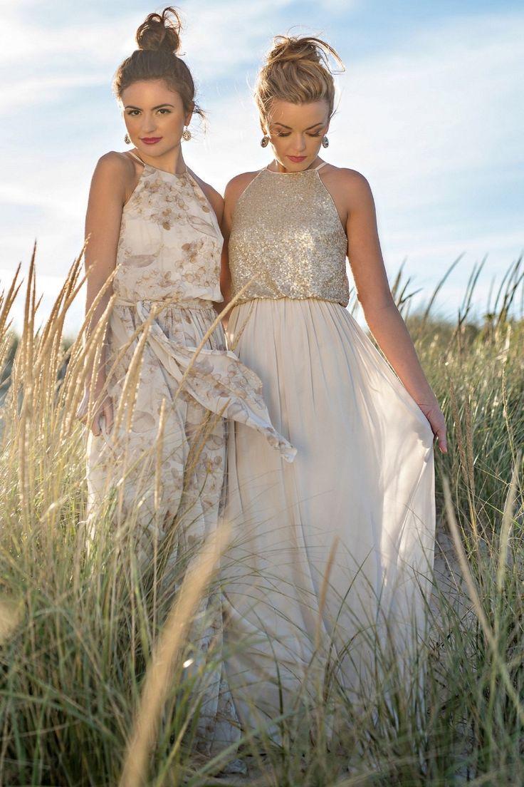 Sequin Jewel Neck Sleeveless Zipper-Up Floor-Length Chiffon Bridesmaid Dress #bridesmaid #bridesmaiddresses #bridesmaiddresses2018 #bridesmaidjewelry ...