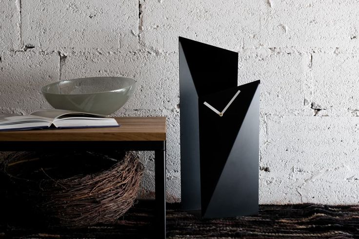 GIE Black Tall Table Top Clock - Design Shop