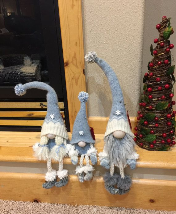 Christmas decoration gnome family by HeidisGnomes on Etsy