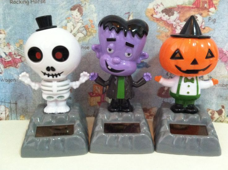 SALE Vintage Monster Mash Set Collectible Solar Dancing Toys Halloween Holiday Decor by MoonFaces on Etsy