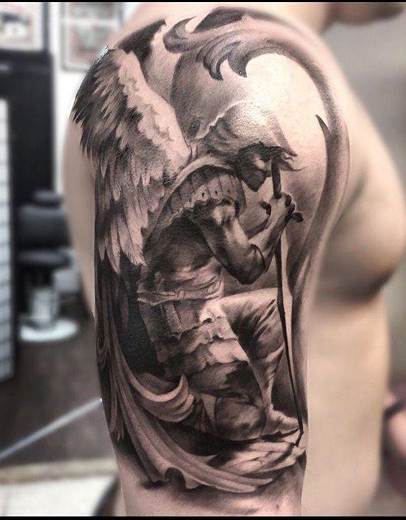 st michael tattoo designs