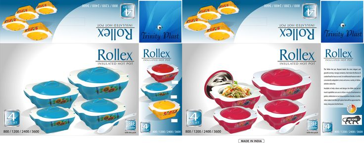 #TrinityPlast #Rollex #4Pcs #stainless #steel #casserole #suppliers #manufacturers #India