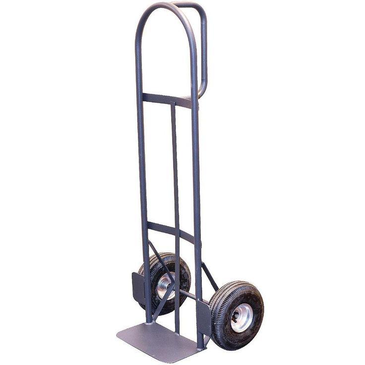 "Hand Truck Dolly D Handle Stacking Box Heavy Duty Trolley 10"" Wheels Warehouse #MilwaukeeTrolleys"
