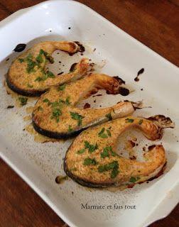 Marmite et fais tout: Darne de saumon à la moutarde
