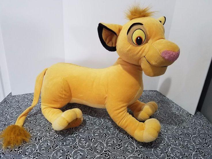 "Simba Lion King Plush 18"" Disney Hasbro Jumbo Large Stuffed Animal Toy 2002 #Hasbro"