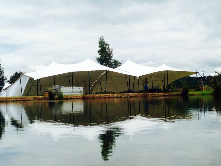 Lakeside with Schupepe. Cover for 120 seated guests at a wedding in Mangawhai