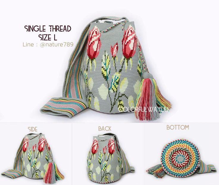 6 отметок «Нравится», 1 комментариев — Wayuu bag from colombia (@colorfulwayuu) в Instagram: «พร้อมส่ง งานละเอียดที่สุดของงานถักวายู ต้องรุ่นนี้ลย Single Thread !!!! . Single Thread…»