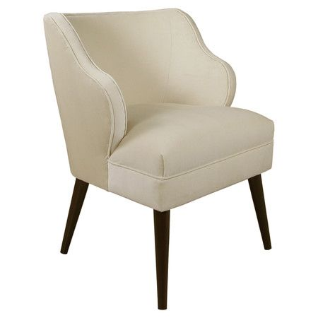 Upholstered wingback accent chair with a pine frame and foam cushioning. Handmade in the USA.   Product: ChairConstr...