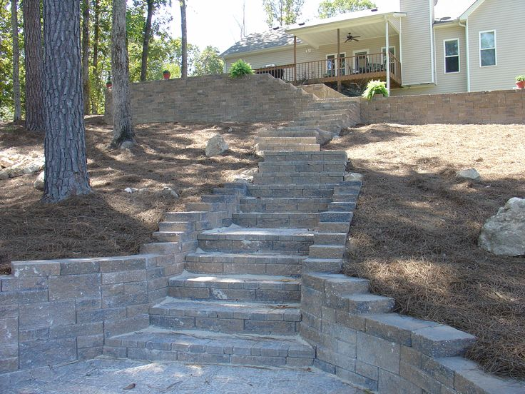 Ashlar Pattern Retaining Wall (Ashlar - Multiple sized blocks to make a random pattern)