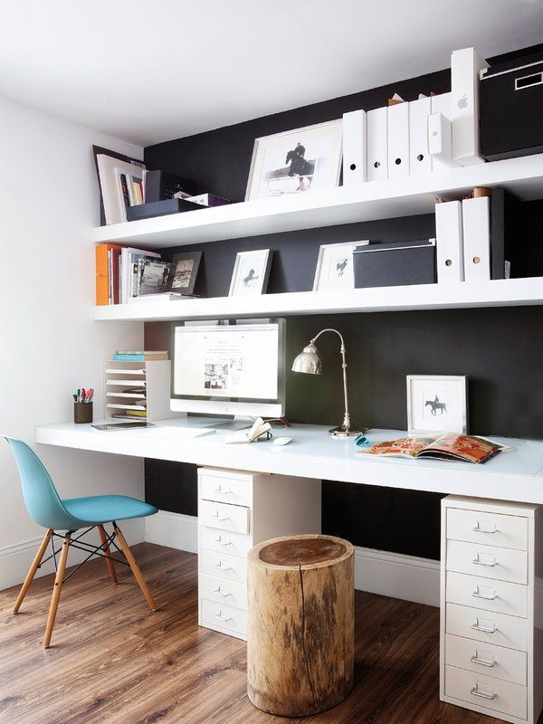 Small metal file cabinets used in place of a conventional desk