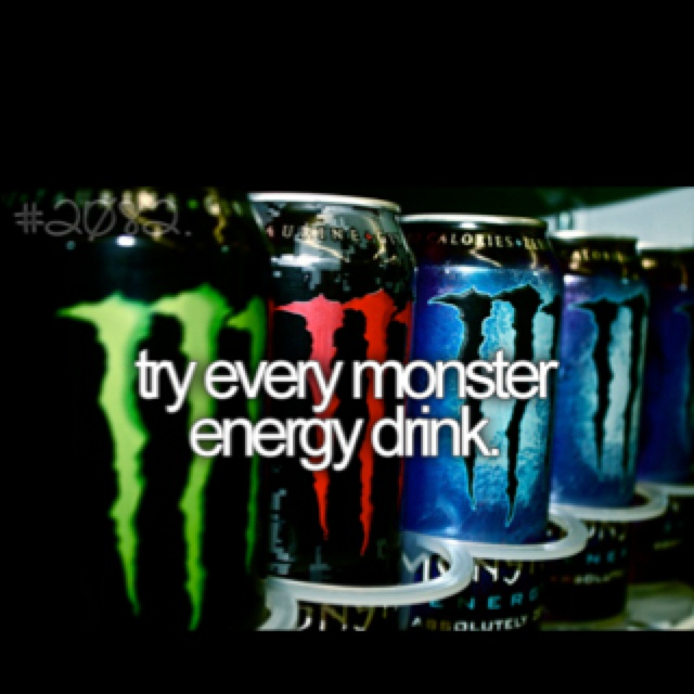 before I die..One Day, Bucketlist, Buckets Lists, Green, Buckets List3, Energy Drinks, The, Challenges Accepted, Monsters Energy