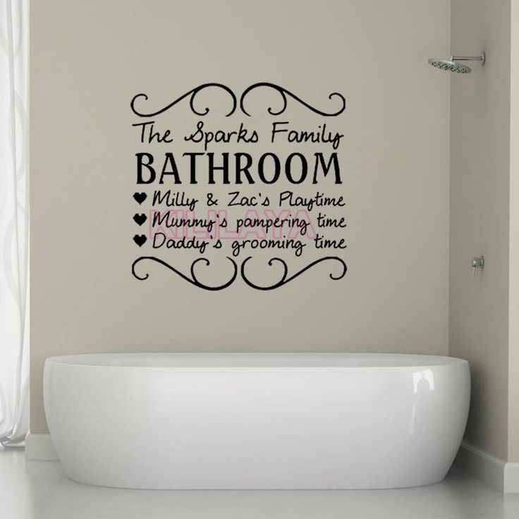 Aliexpress.com : Buy Vinyl Wall Stickers For Kids Bathroom The Sparks  Family Mural Wall