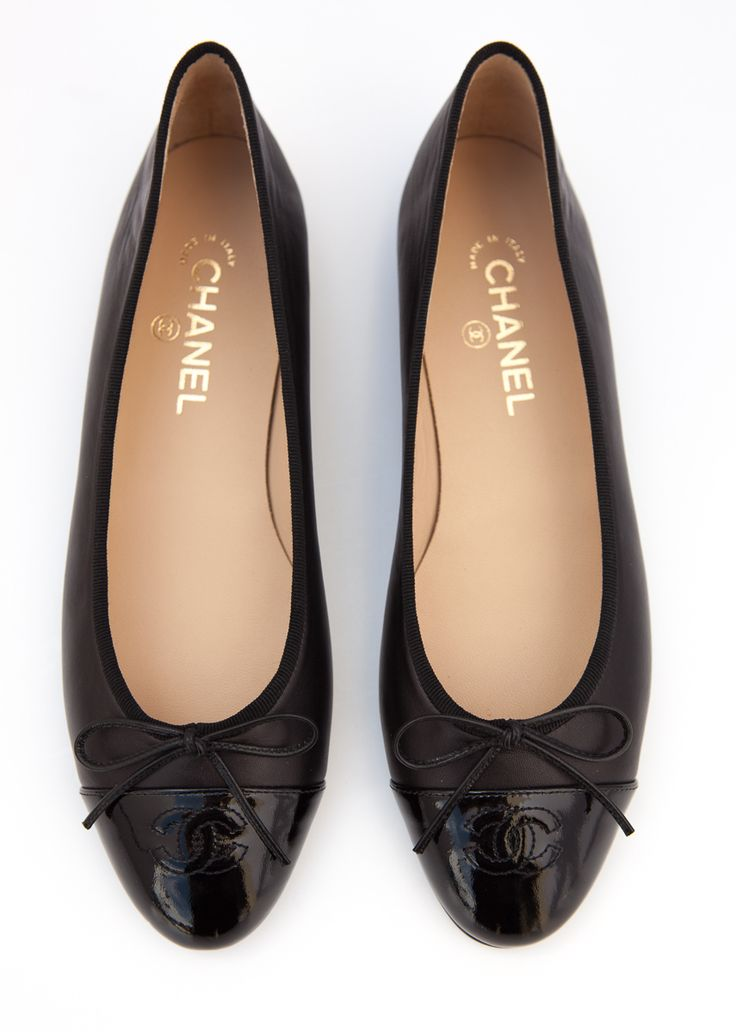 Black Chanel Ballet Flats Size 41 at SnobSwap