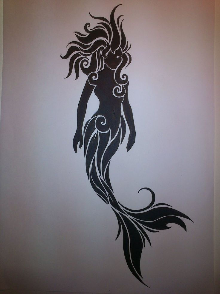 dark mermaid tattoo - Google Search
