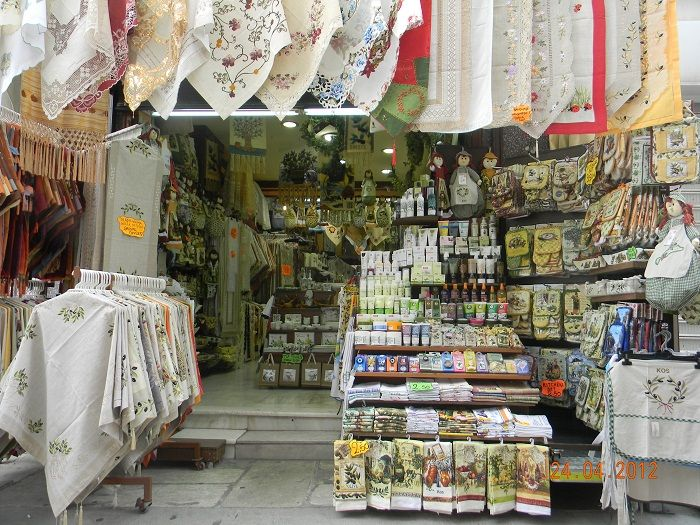 Diana Lace Shop where you can pick up that lovely souvenir or gift when on you #Kos2014 Holiday.