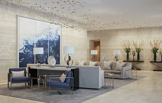 One Kensington Gardens, Kensington, London  Reception  Foyer  Contemporary by Taylor Howes