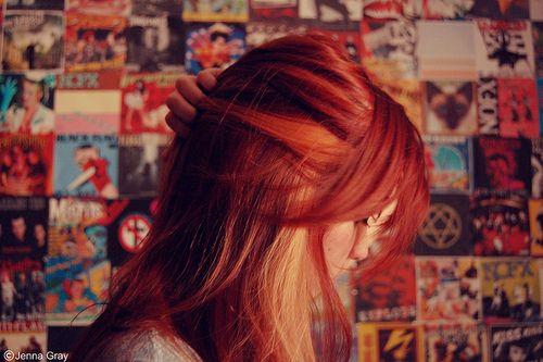 red hair with blonde streak: Hair Ideas, Blonde, Hairstyles, Red Hair, Hair Styles, Haircolor, Redhead, Hair Color, Red Head