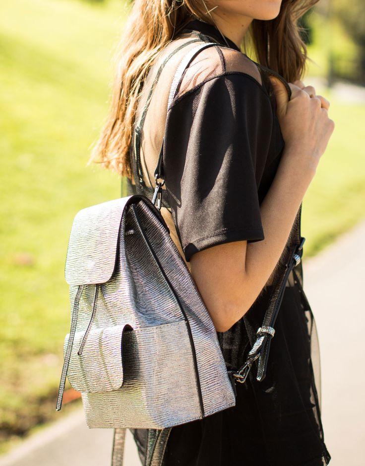 Shiny Metallic Backpack