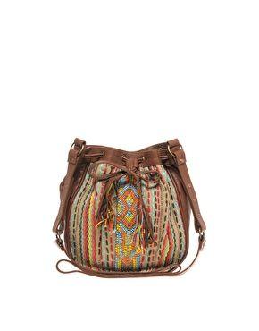 Enlarge Warehouse Leather Aztec Bag