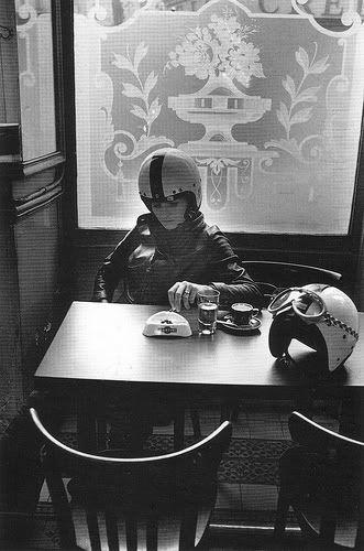Robert Doisneau, Francine Doisneau in a café at Ave. Jean Jaurès, Paris, 1971