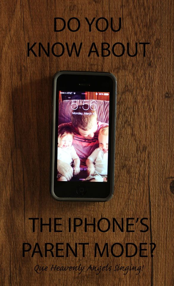 Do you know that the iphone has a parent mode that allows you to lock your children on a screen? Life. Changing.