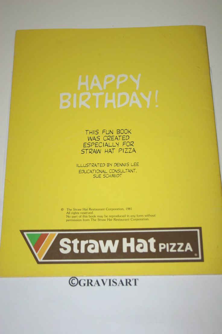 Straw Hat's Fun Book 1981 Straw Hat Pizza - 2