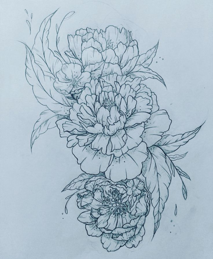 Peony tattoo!! Please contact me if you're interested in custom designs at…