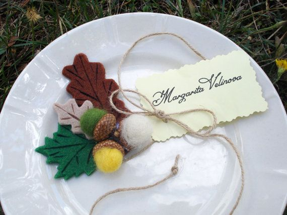 acorn place card holder autumn wedding name tag holder rustic table escort card holder barn wedding decor country wedding