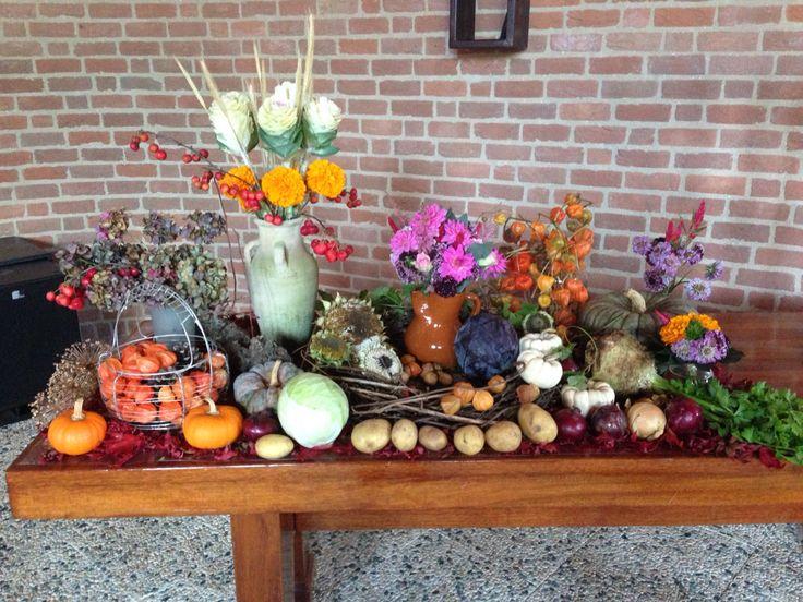 Dankdag oogst tafel