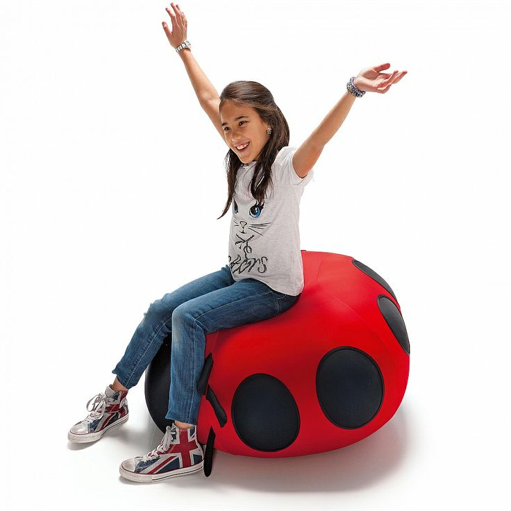 Animals Ladybird Expand Pouf by Sedit for kids.